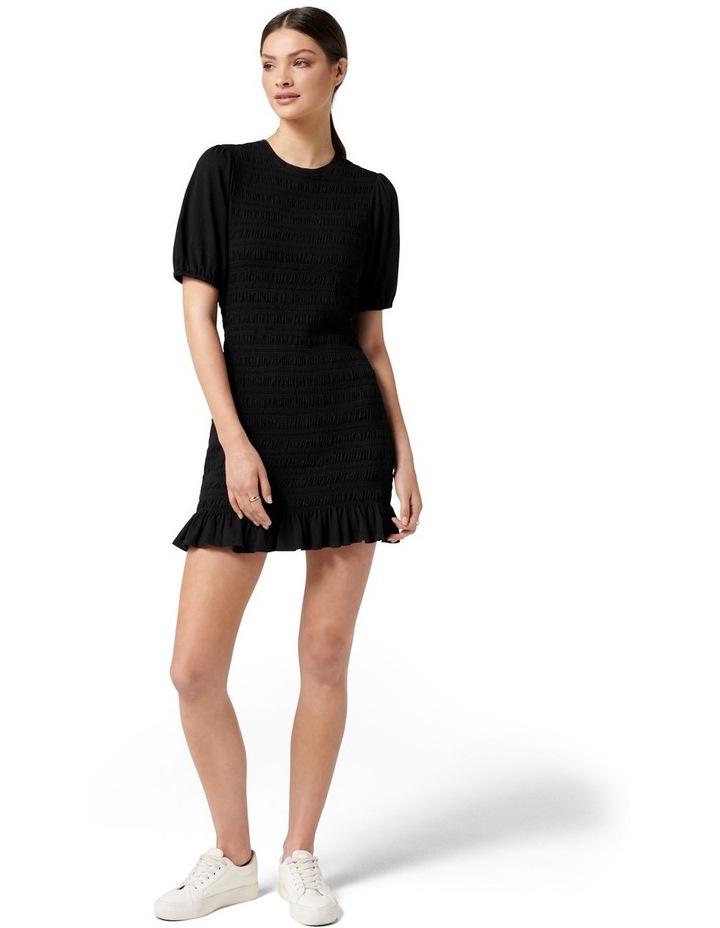 Alexa Shirred Mini Dress Black image 5