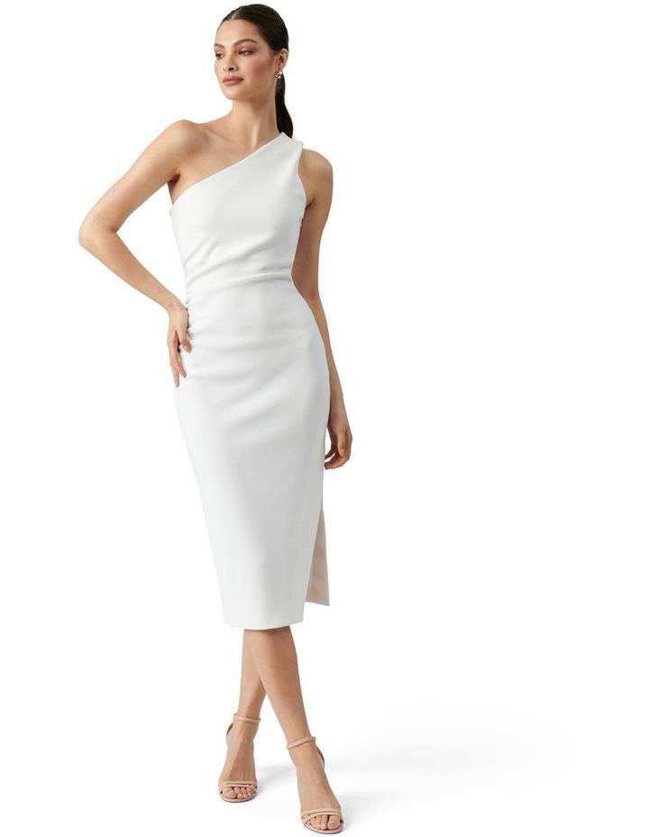 Shiloh Bodycon Midi Dress Porcelain image 1