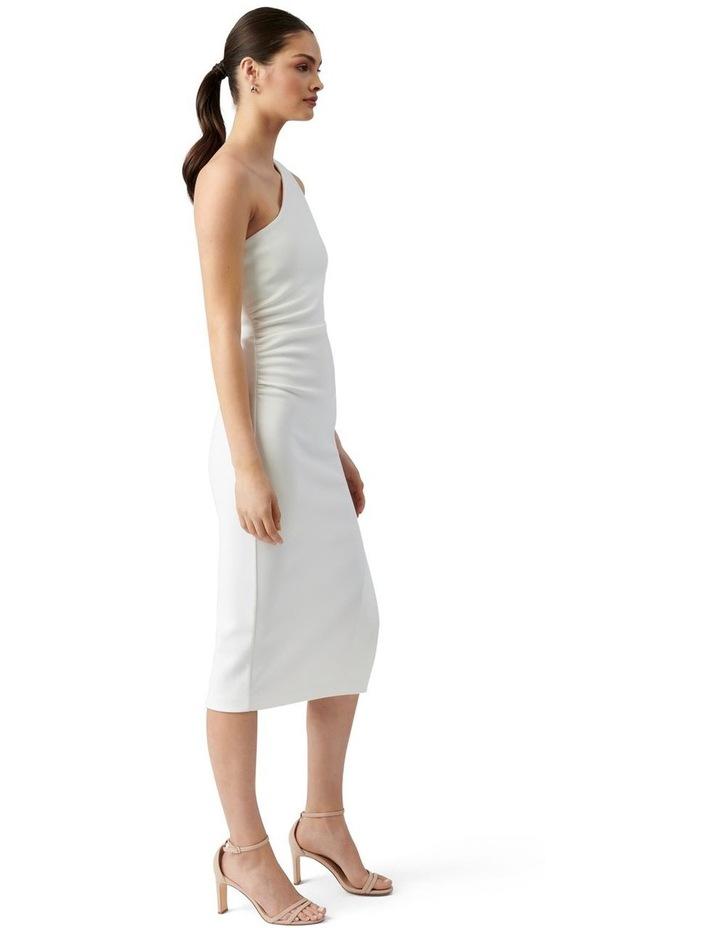 Shiloh Bodycon Midi Dress Porcelain image 3