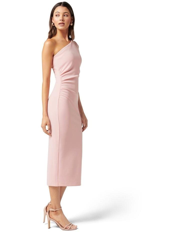 Shiloh Bodycon Midi Dress Soft Pink image 3