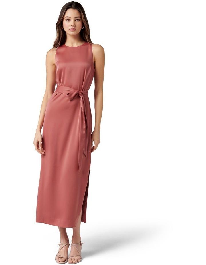 Willow Satin Column Dress Rose Rust image 1