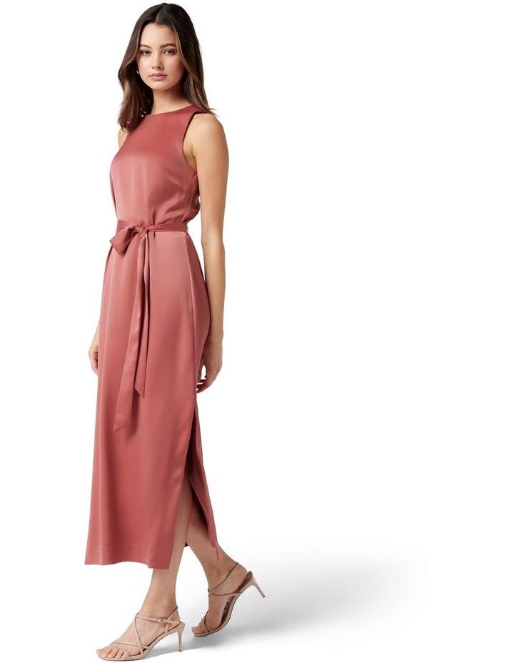 Willow Satin Column Dress Rose Rust image 3