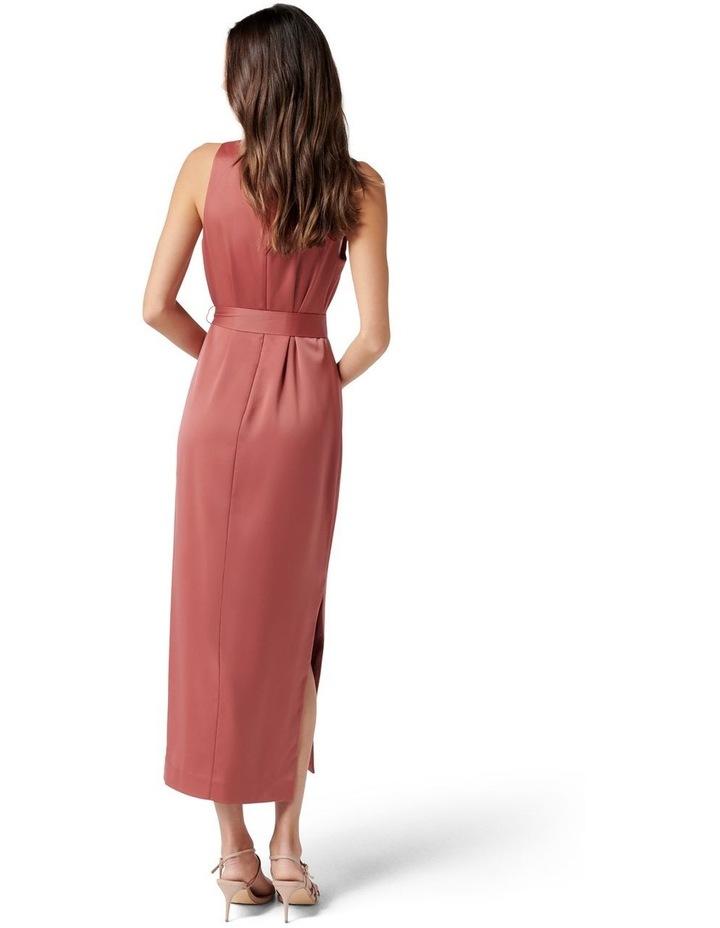 Willow Satin Column Dress Rose Rust image 4
