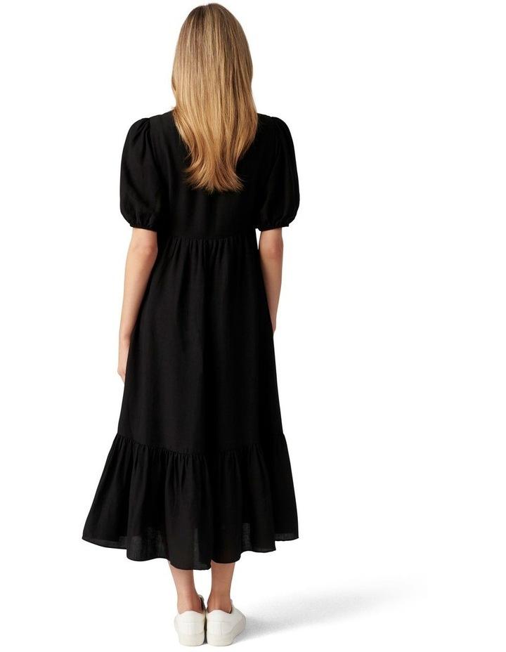 Nelly Tiered Midi Dress Black image 4