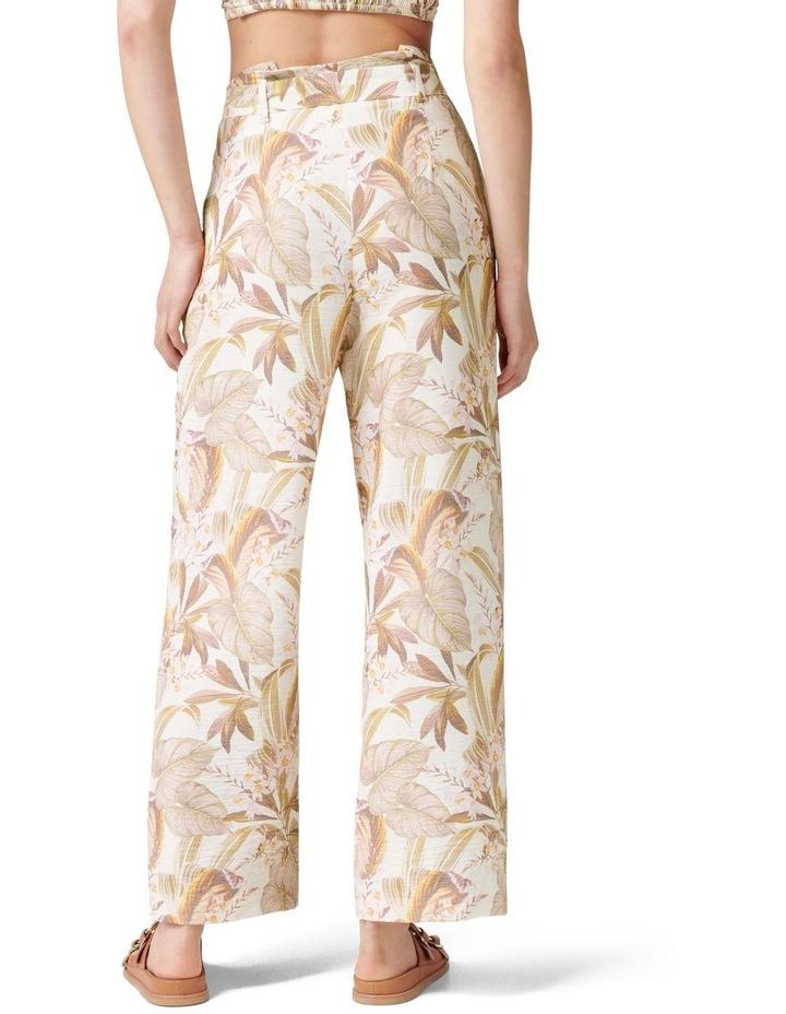 Paula Tie Waist Wide Leg Pants Porcelain Palm Springs image 4