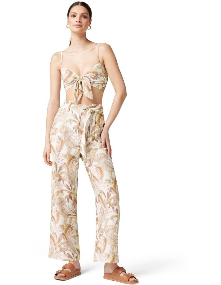 Paula Tie Waist Wide Leg Pants Porcelain Palm Springs image 5