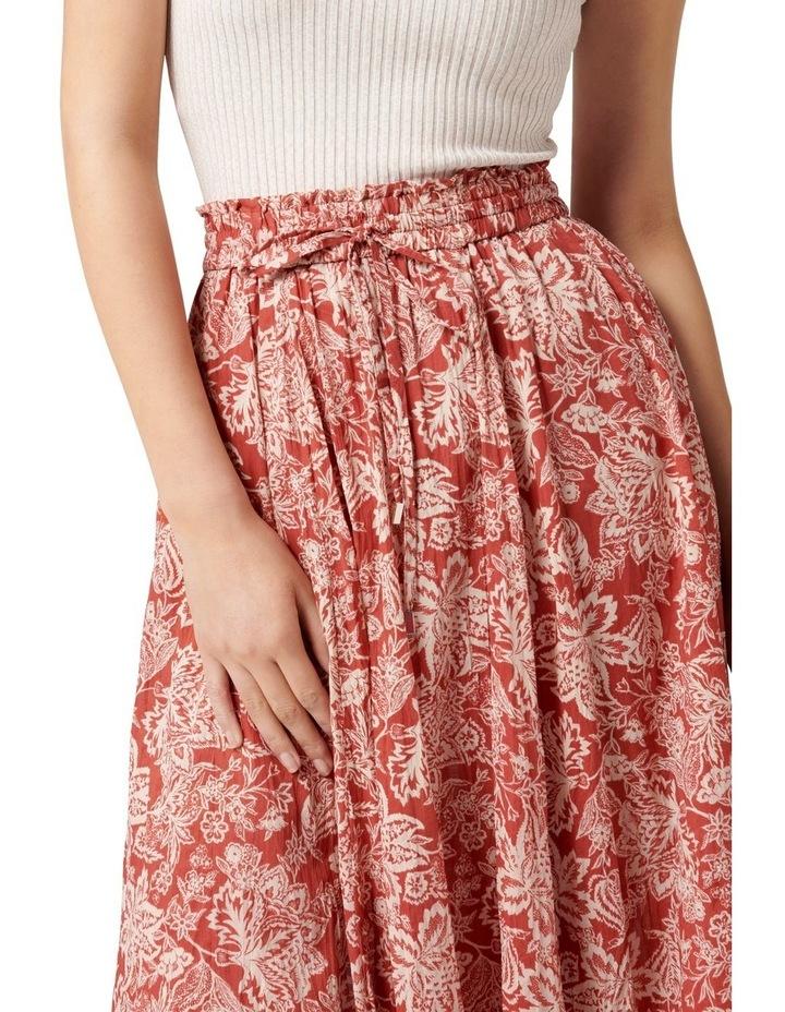 Charlize Crinkle Cotton Skirt Rust Sarasa image 2