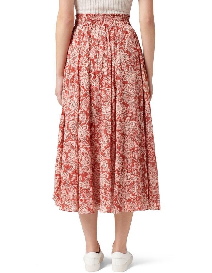 Charlize Crinkle Cotton Skirt Rust Sarasa image 4