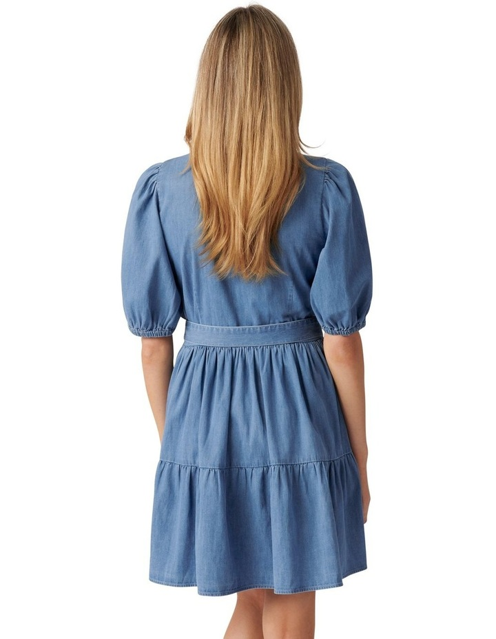 Maria Belted Denim Shirt Dress Mid Wash image 4
