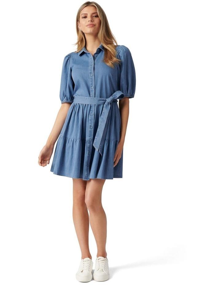 Maria Belted Denim Shirt Dress Mid Wash image 5