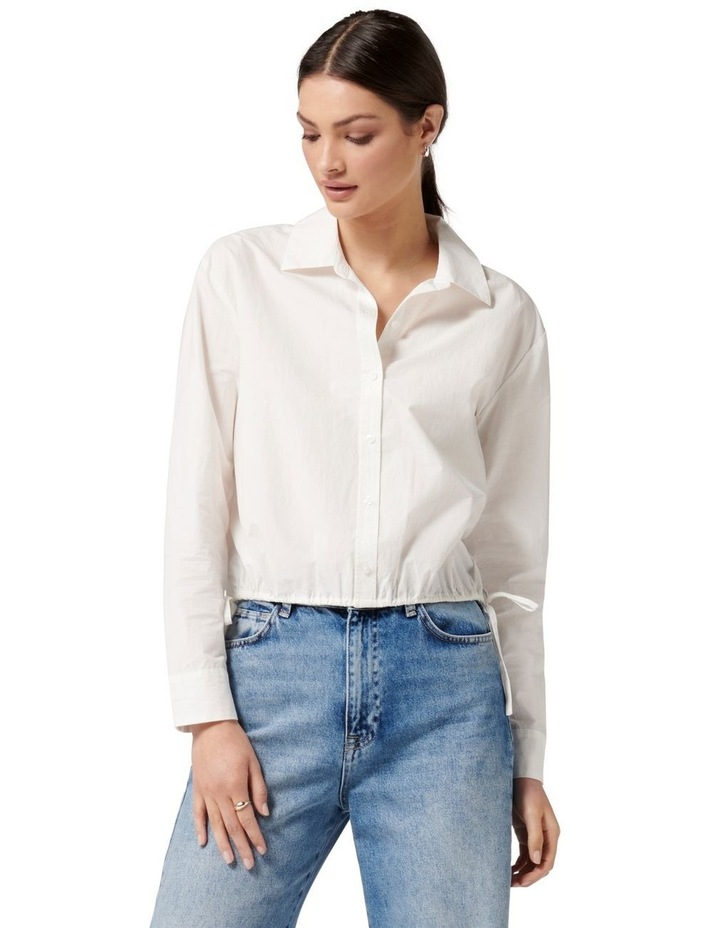 Danni Drawcord Shirt White image 1