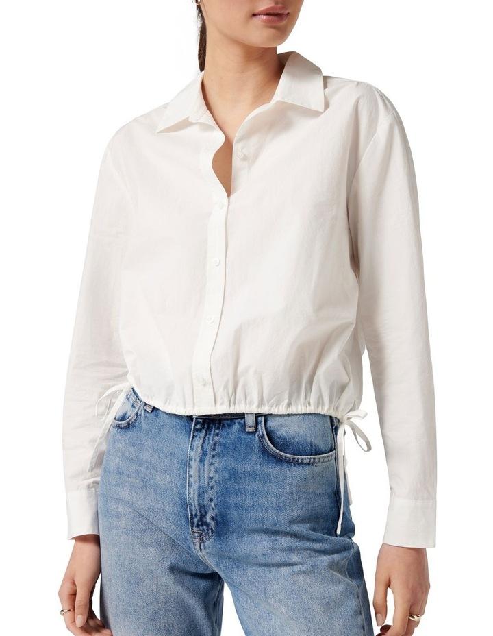 Danni Drawcord Shirt White image 2