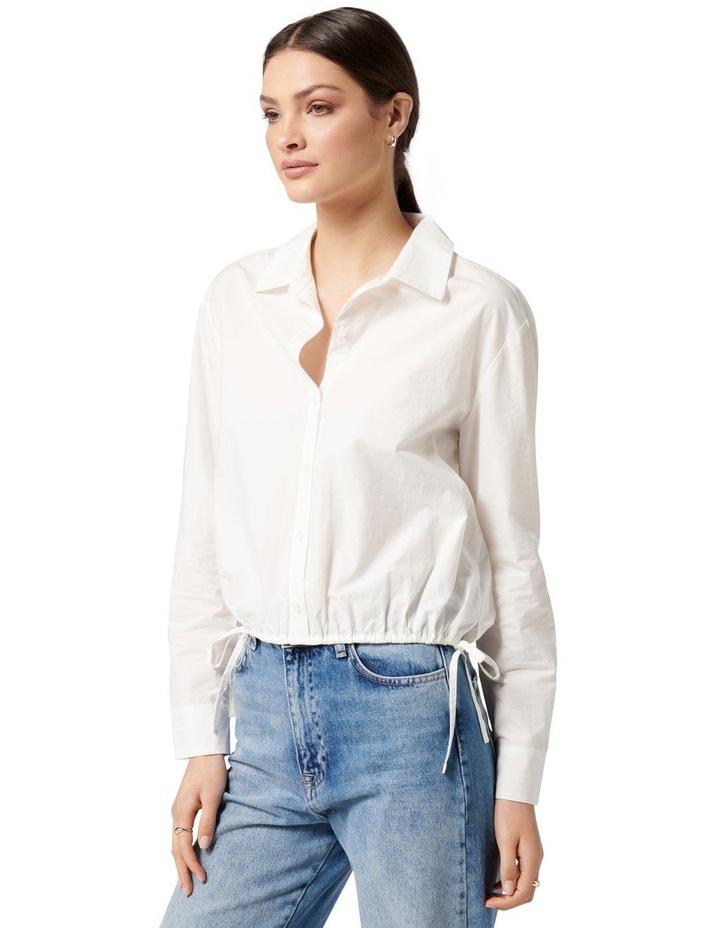 Danni Drawcord Shirt White image 3