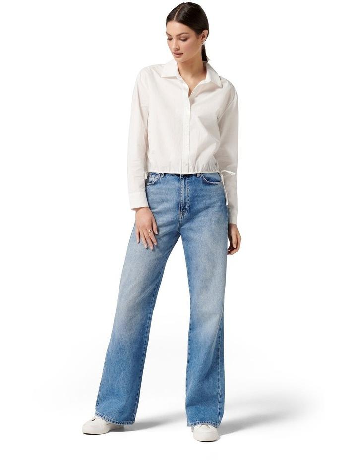 Danni Drawcord Shirt White image 5
