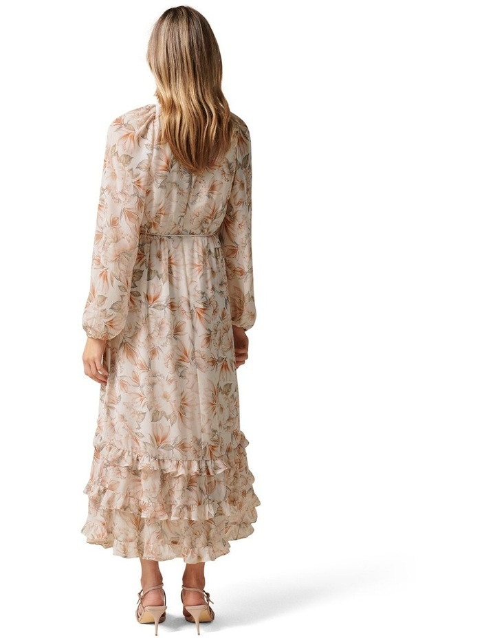 Clementine Ruffle Midi Dress Faded Coral Floral image 4
