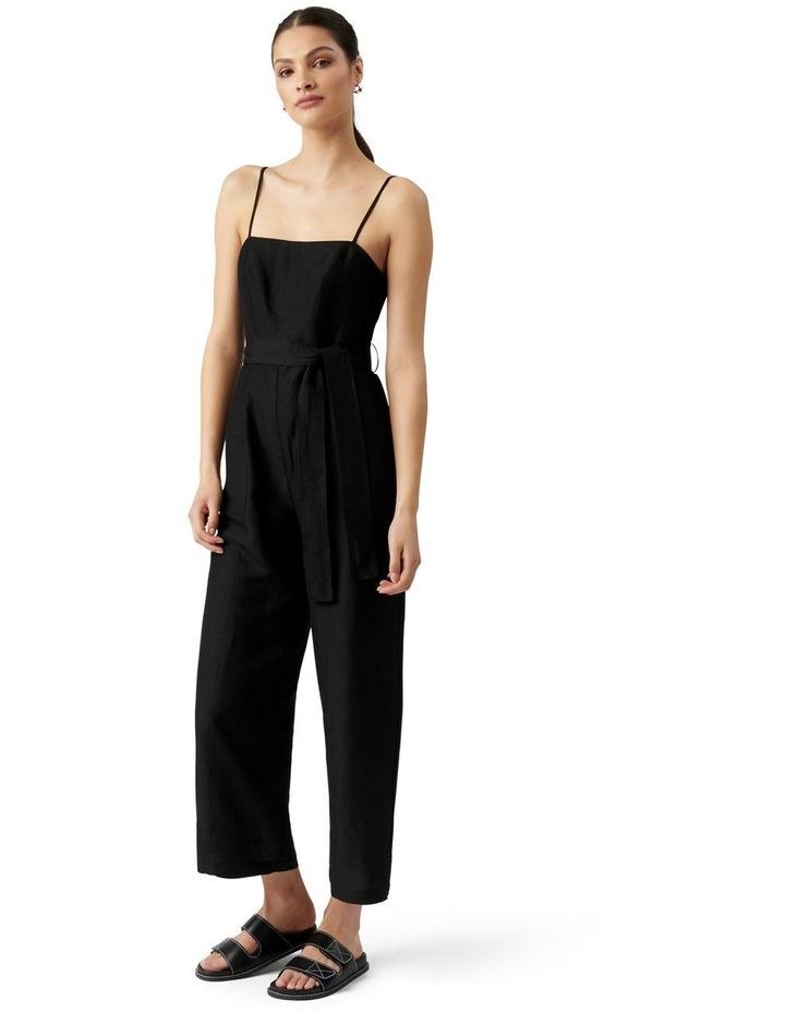 Avery Petite Tie Waist Jumpsuit Black image 2