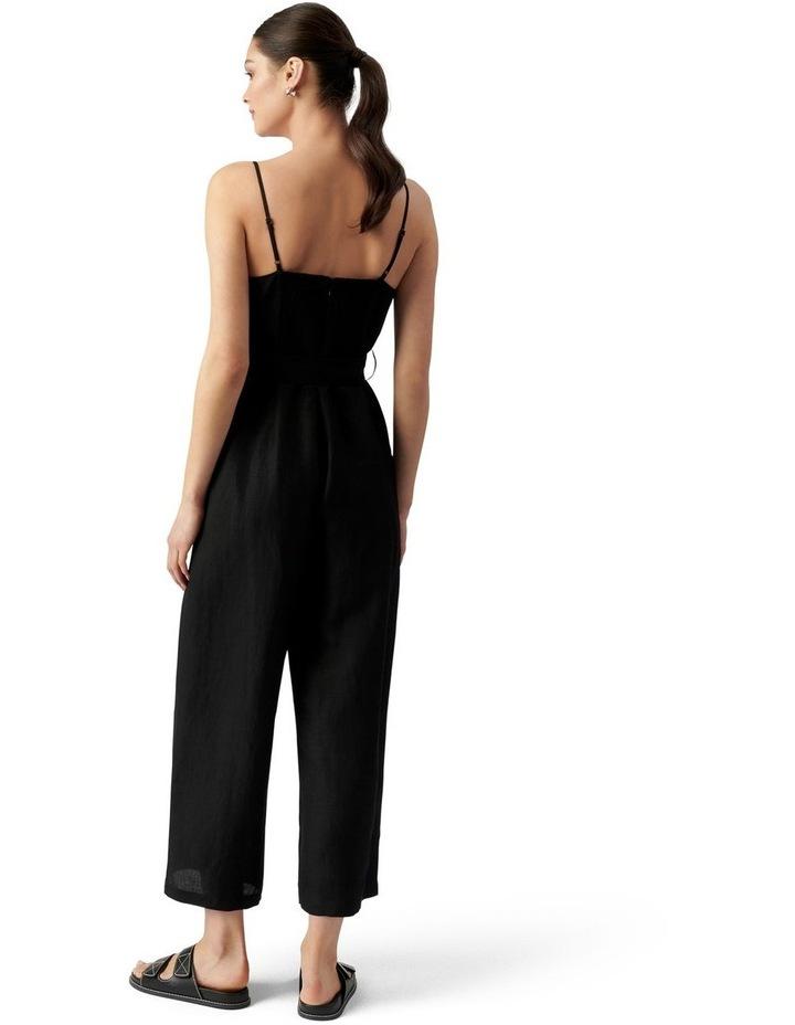 Avery Petite Tie Waist Jumpsuit Black image 3