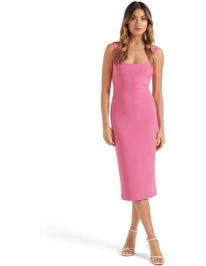 Niya Square Neck Midi Dress Carnation Pink image 1