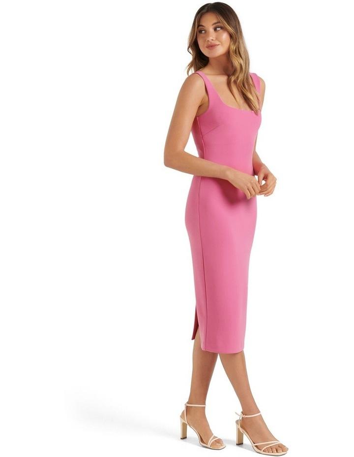 Niya Square Neck Midi Dress Carnation Pink image 3