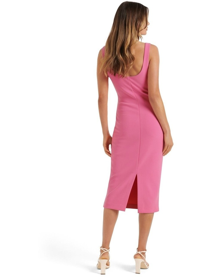 Niya Square Neck Midi Dress Carnation Pink image 4