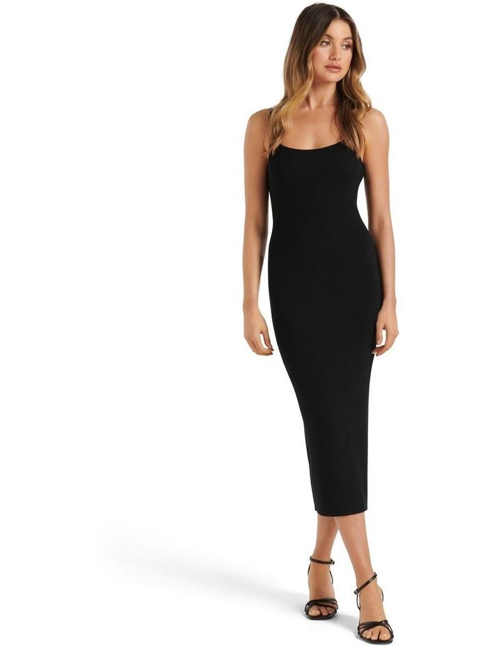 Holly Cami Midi Knit Dress Black image 1