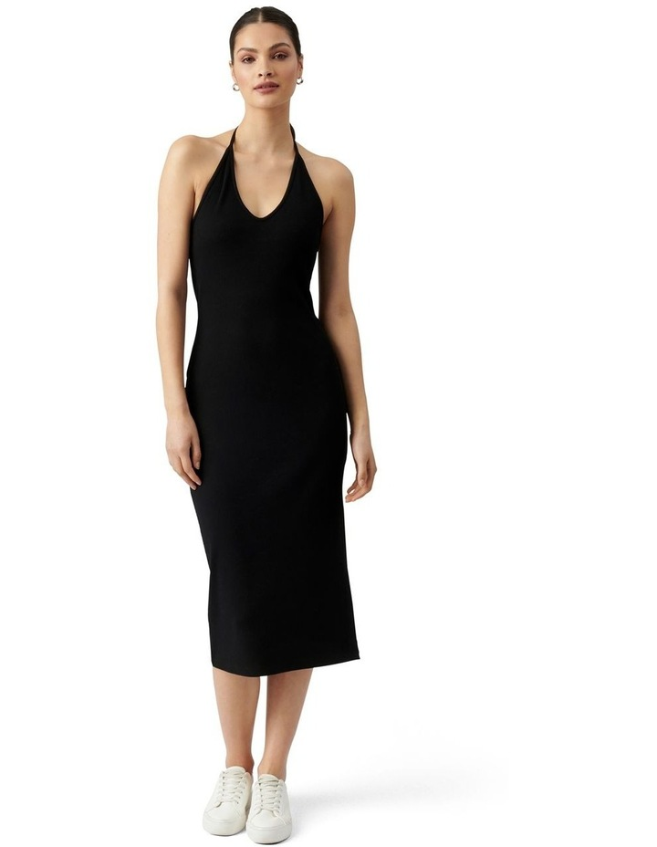 Chelsea Halter Midi Dress Black image 1