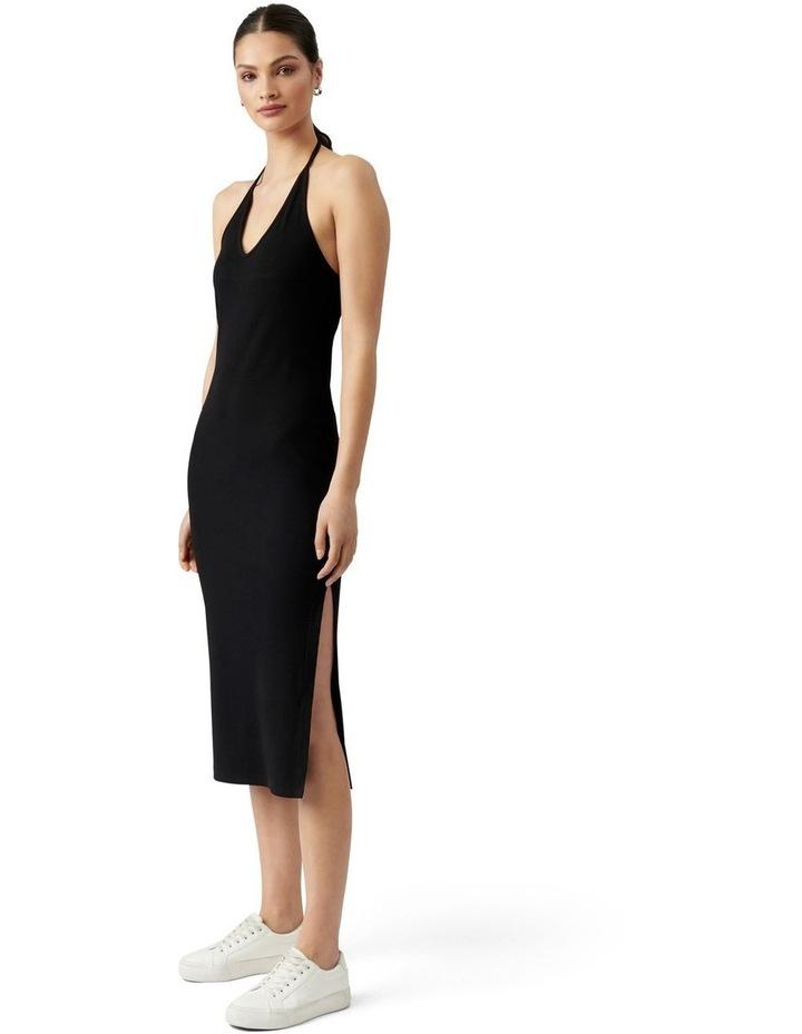 Chelsea Halter Midi Dress Black image 3