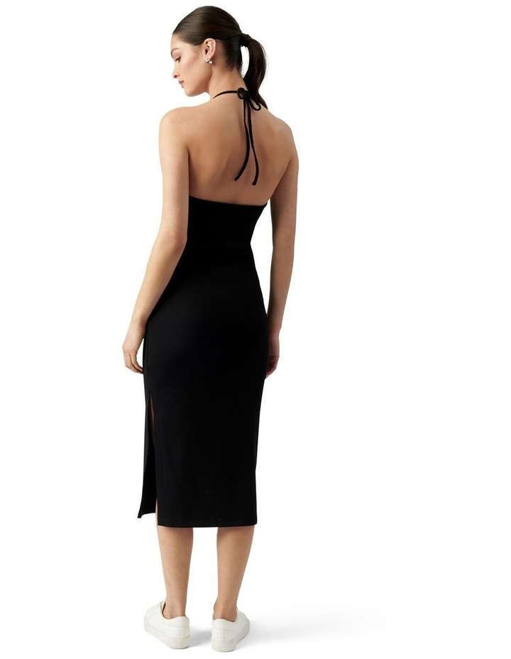 Chelsea Halter Midi Dress Black image 4