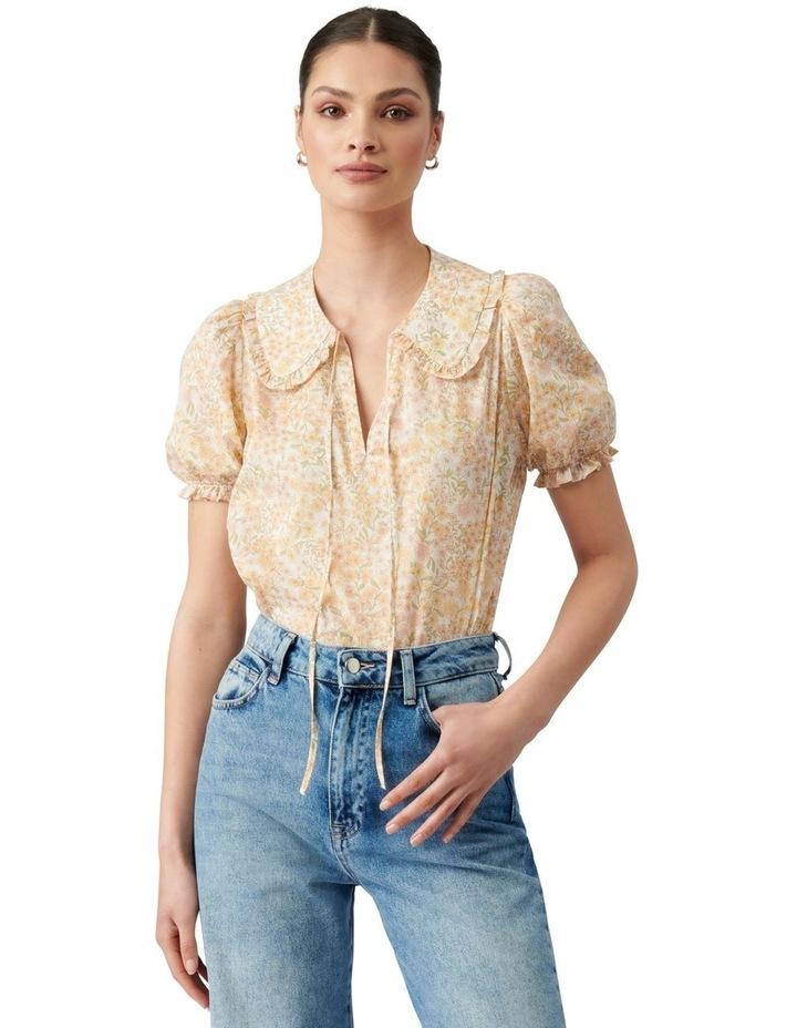 Mackenzie Collar Puff Sleeve Blouse Golden Ashwick Ditsy image 1