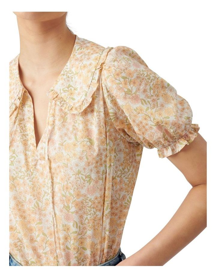 Mackenzie Collar Puff Sleeve Blouse Golden Ashwick Ditsy image 2