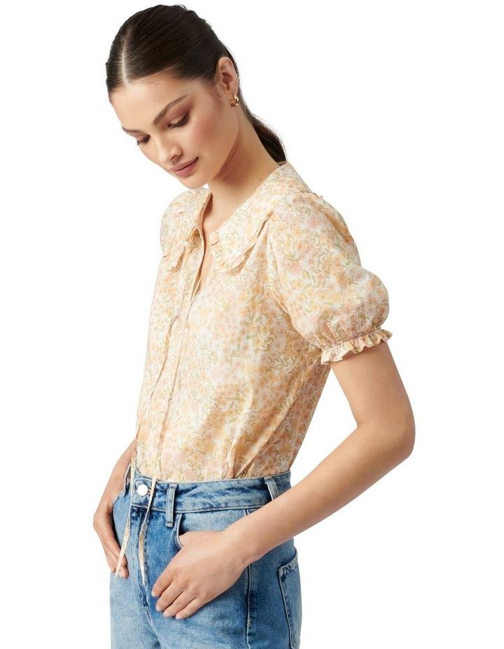 Mackenzie Collar Puff Sleeve Blouse Golden Ashwick Ditsy image 3