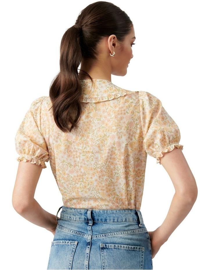 Mackenzie Collar Puff Sleeve Blouse Golden Ashwick Ditsy image 4