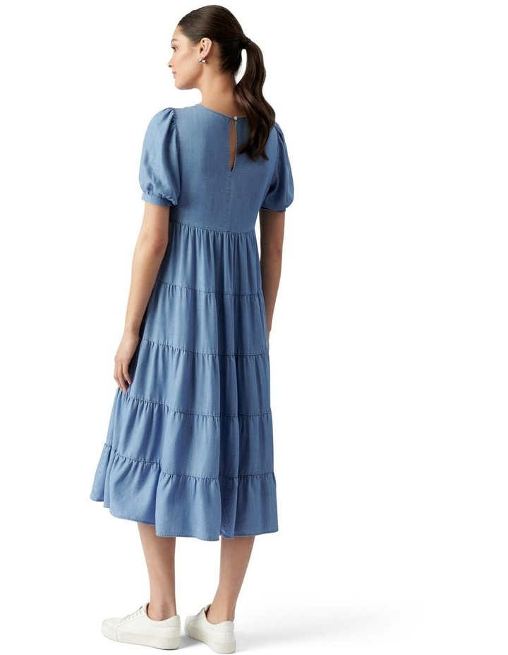 Pippa Denim Midi Smock Dress Mid Wash image 4