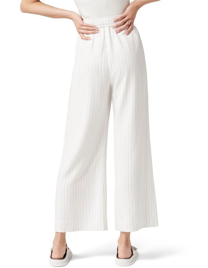 Ruby Stripe Wide Leg Pants White Black Stripe image 3