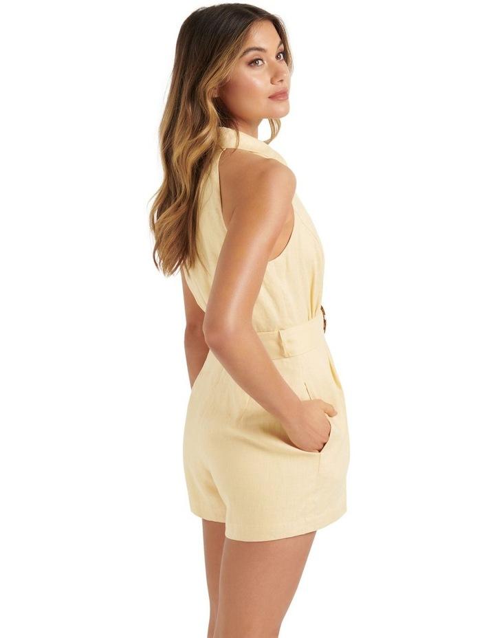 Rhianna Linen Belted Playsuit Buttercream image 3