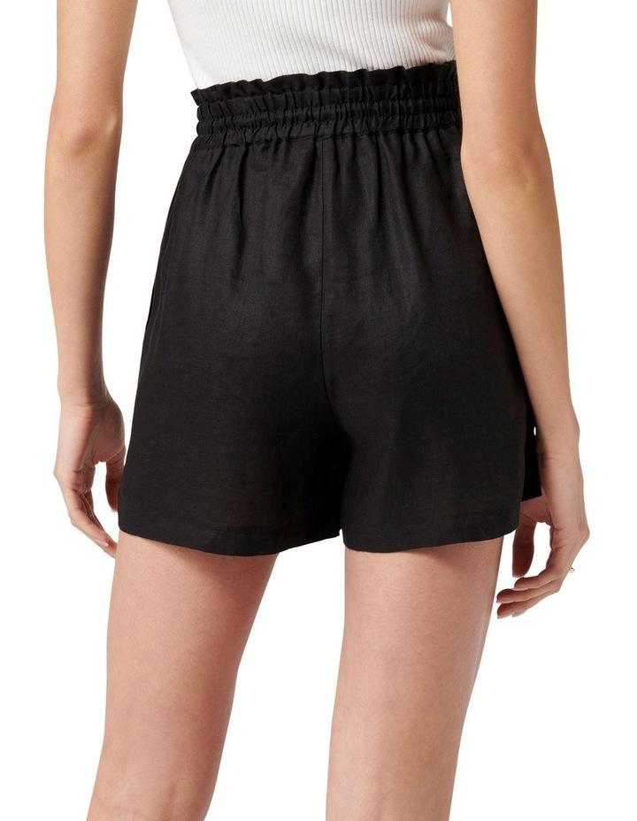 Allegra Drawstring Linen Short Black image 4