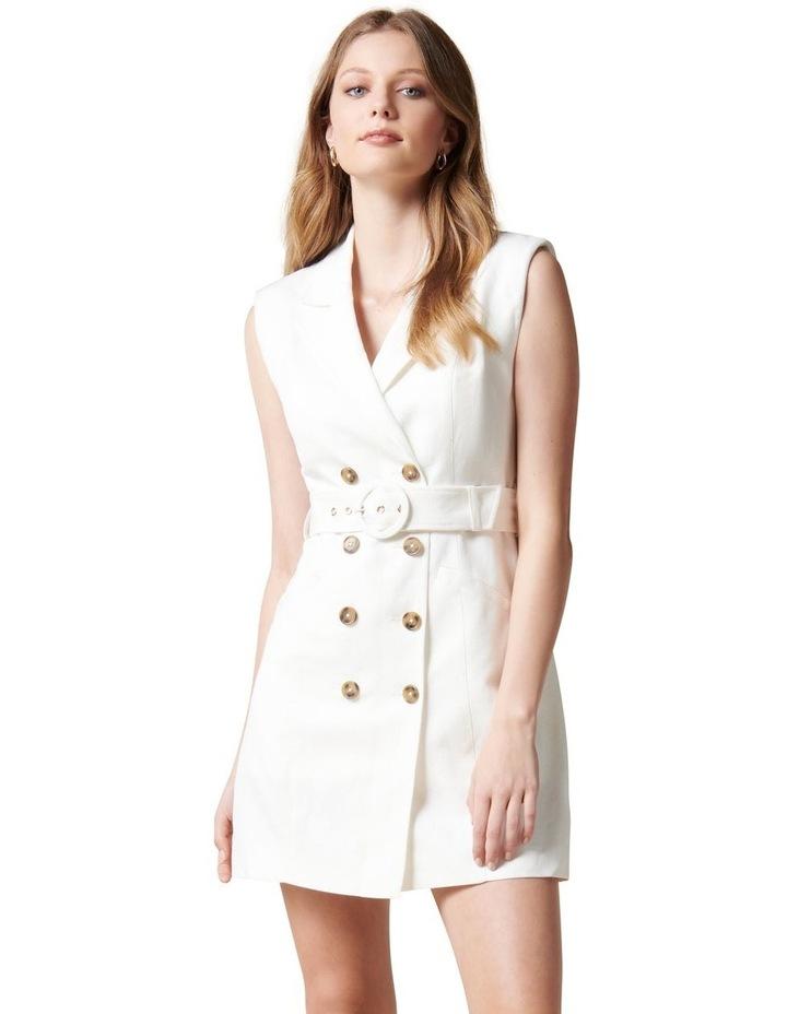 Hilary Mini Blazer Dress Porcelain image 1