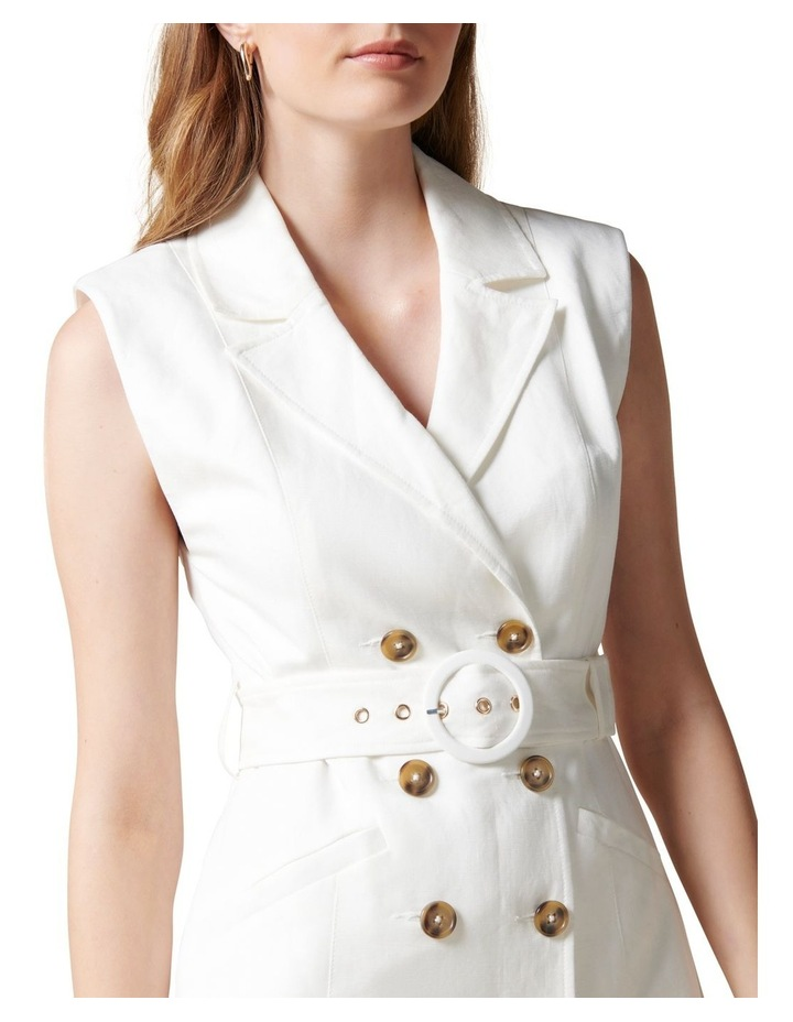 Hilary Mini Blazer Dress Porcelain image 2