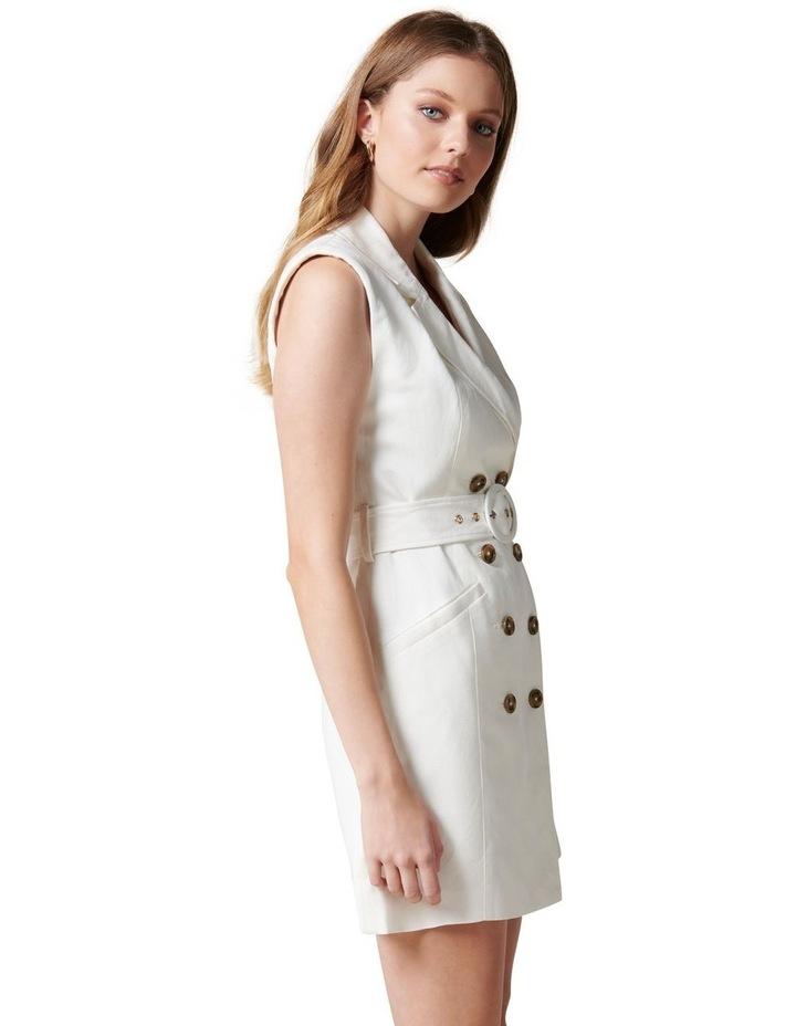 Hilary Mini Blazer Dress Porcelain image 3