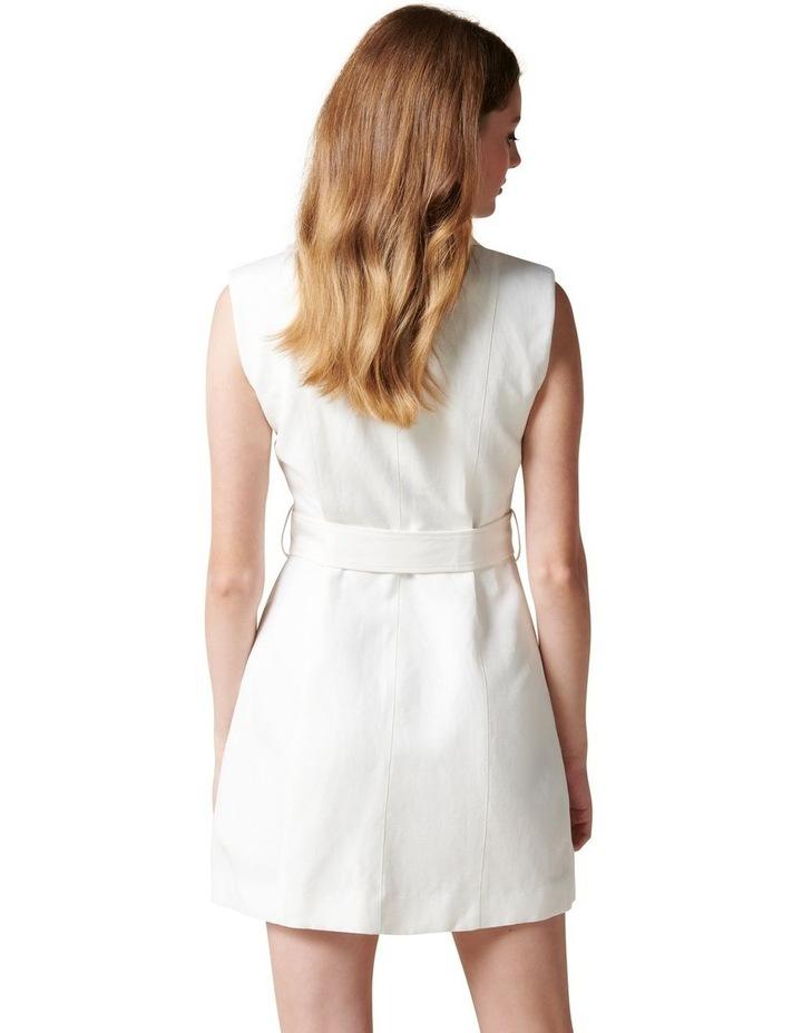 Hilary Mini Blazer Dress Porcelain image 4