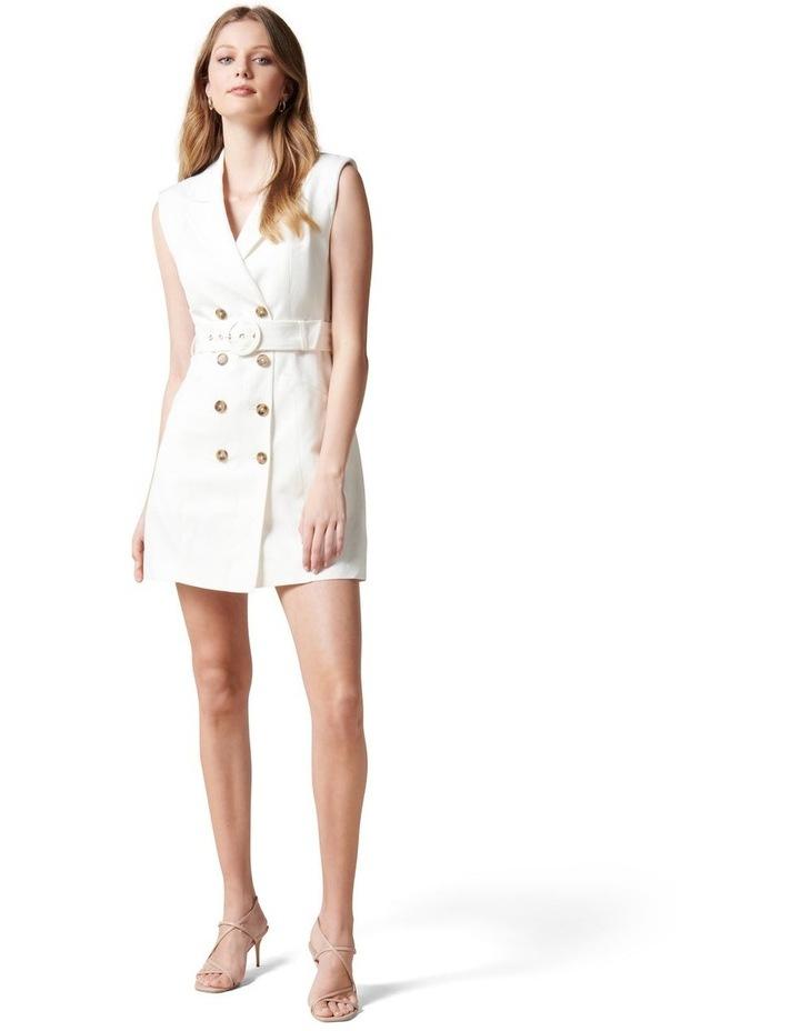 Hilary Mini Blazer Dress Porcelain image 5