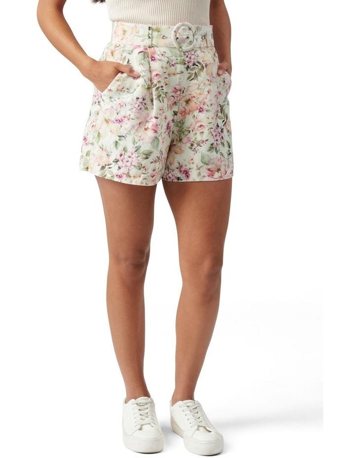 Clara Belted Linen Blend Shorts Mayfair Floral image 1