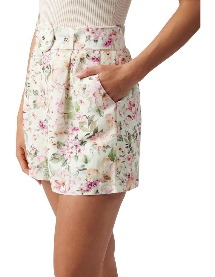 Clara Belted Linen Blend Shorts Mayfair Floral image 3