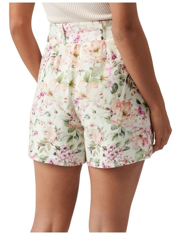 Clara Belted Linen Blend Shorts Mayfair Floral image 4