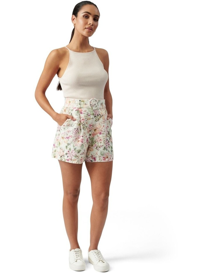 Clara Belted Linen Blend Shorts Mayfair Floral image 5