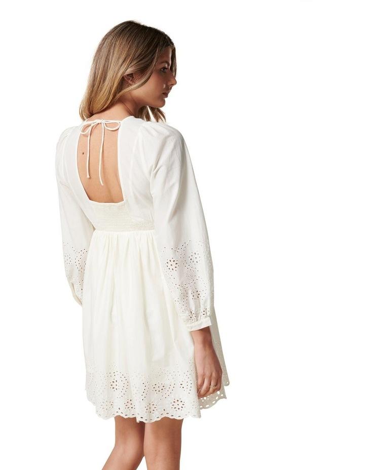 Esther Puff Sleeve Cutwork Dress Cream image 4