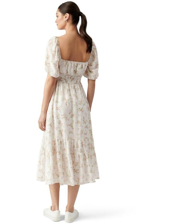 Josephine Tiered Midi Dress Apricot Blush Ditsy image 3