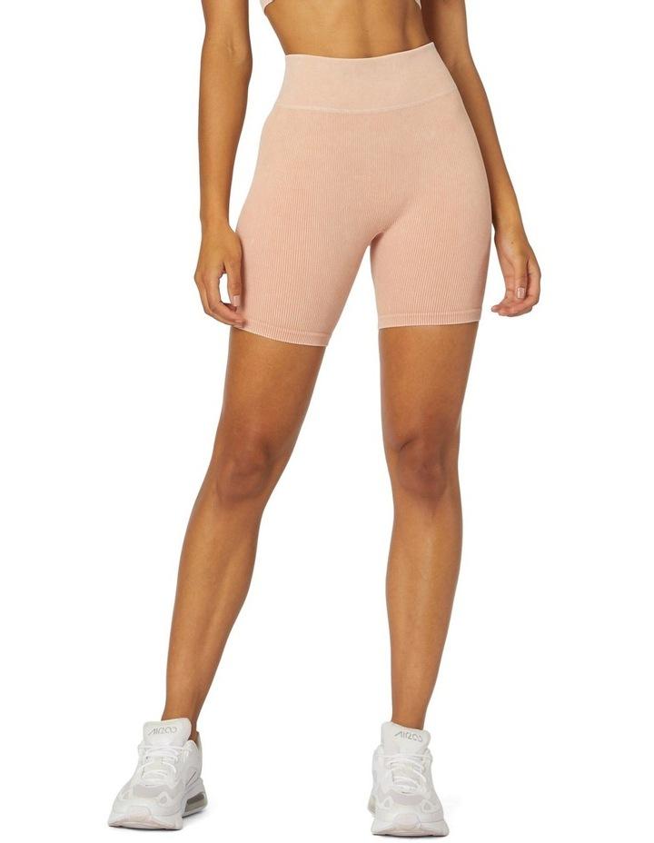 Isla Seamless High-Waisted Shorts White image 1