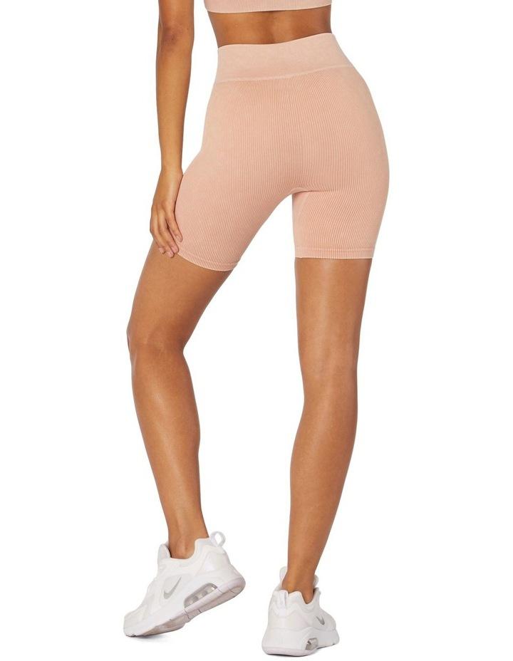 Isla Seamless High-Waisted Shorts White image 2