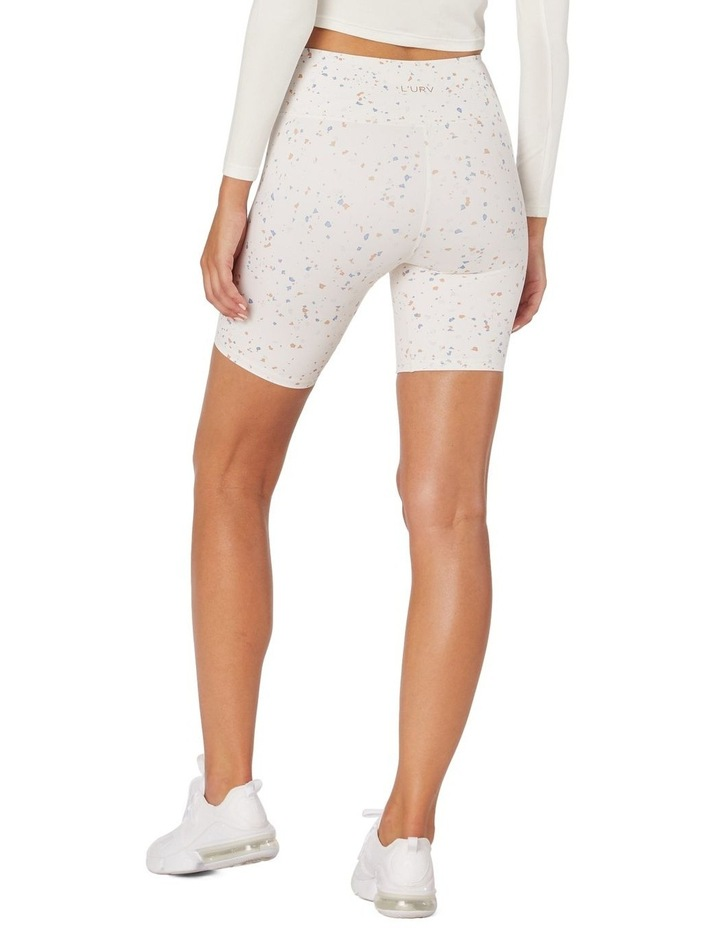 Speckled Sky Sports Shorts White image 3